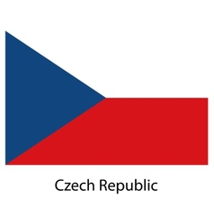 Flag of the country czech republic vector