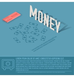 Money business background concept design vector