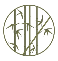Bamboo in circle vector