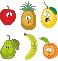 Emotion fruits set vector