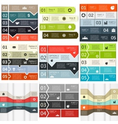 Lines infographics set vector