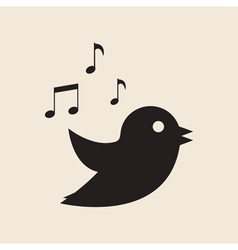 Icon twitter bird vector
