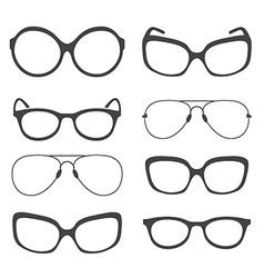Eyeglasses silhouette vector