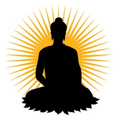 Black buddha silhouette vector