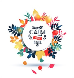 Autumn of leaves vector