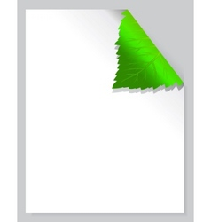 Leaf page vector