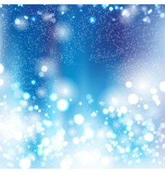 Blue bokeh abstract light background vector
