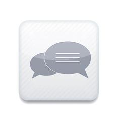 White bubble speech icon eps10 easy to edit vector