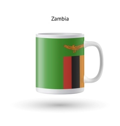 Zambia flag souvenir mug on white background vector