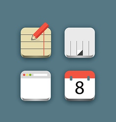 Different business icons set with rounded corners vector