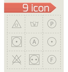 Washing signs icons set vector