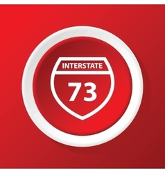 Interstate 73 icon on red vector