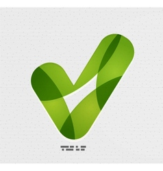 Positive checkmark  tick on paper design vector