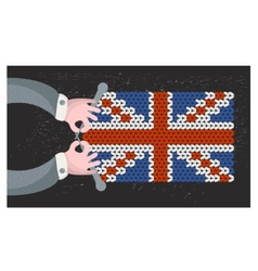 Hand made british flag vector