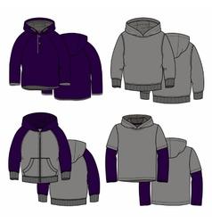 Purple hoodies vector
