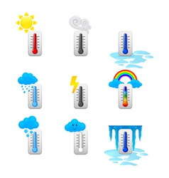 Different thermometer icons set vector
