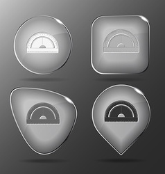 Protractor glass buttons vector