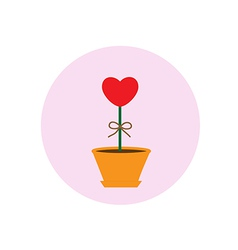 Heart pot symbol vector