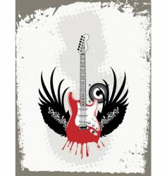 Grungy guitar vector
