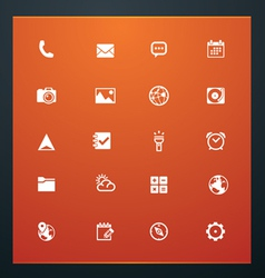 Universal glyphs 16 phone symbols 5 vector