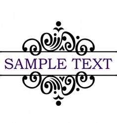 Elegance text frame vector