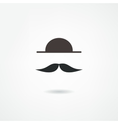 Man mustache icon vector
