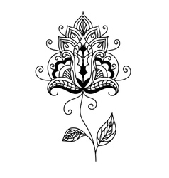 Ornate persian paisley floral element vector