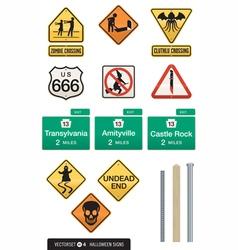 Set of 12 halloween sign s vector
