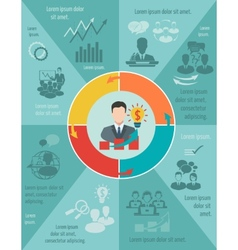 Meeting infographic set vector