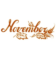 November the name of the month vector