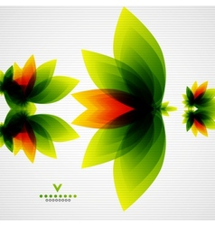 Colorful abstract flowers template vector