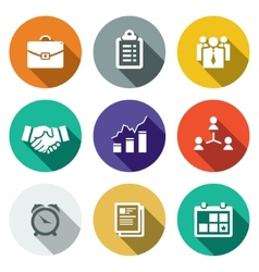 Office flat icons set vector