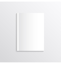 Blank sheet of paper magazine covers postcards vector
