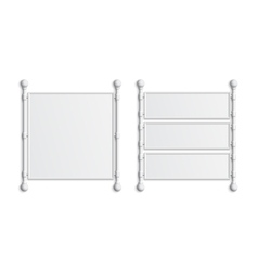 Set of two blank white banners vector