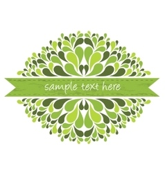 Green ribbon with decoration vector