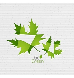 Leaf on paper template vector