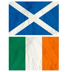 Scotland and ireland flag vector