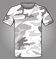 Snow camo army tshirt vector