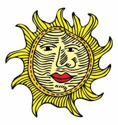 Sun with a nose vector