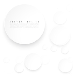 Paper circle with drop shadows vector