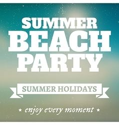 Summer beach party page with holidays vector