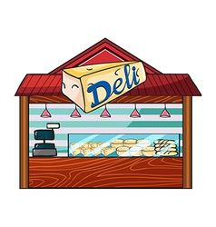 A cheese store vector