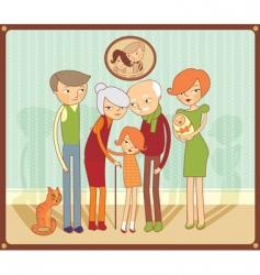 Family portrait vector
