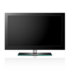 Tv flat black screen lcd vector
