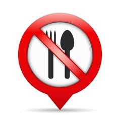 No food sign vector