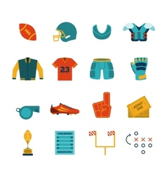 Rugby flat icons set vector