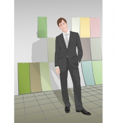 Young businessman vector