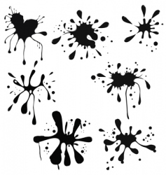 Ink splash vector