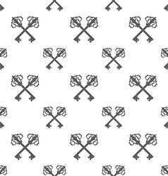 Vintage key silhouette seamless pattern vector