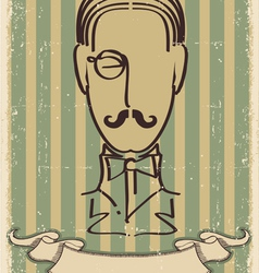 Retro mustache man vector